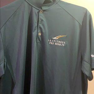 LA Fitness Branded Nike Polo Shirt Size Medium